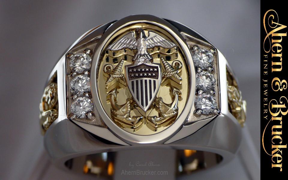 Ahern Amp Brucker Fine Military Jewelry Us Navy Swo Ring